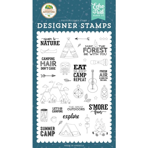 Echo Park ESCAPE TO NATURE Clear Stamps sa180046 Preview Image