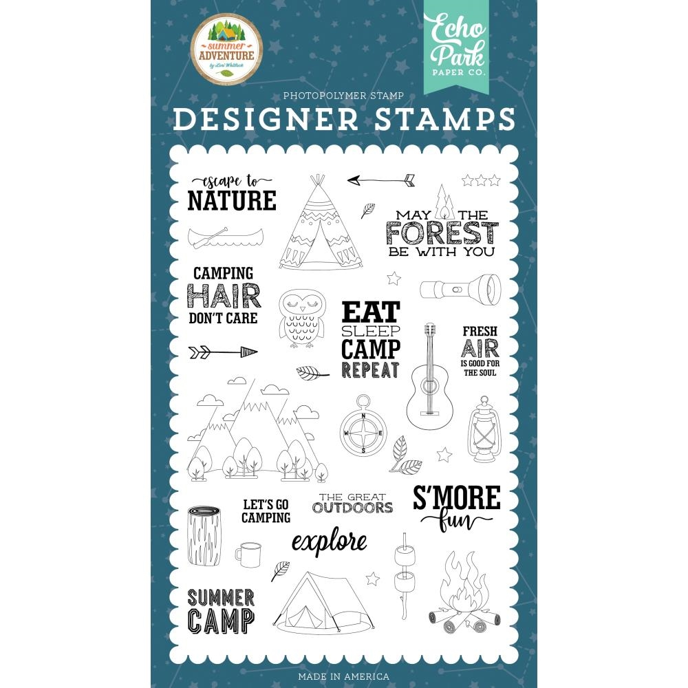Echo Park ESCAPE TO NATURE Clear Stamps sa180046 zoom image