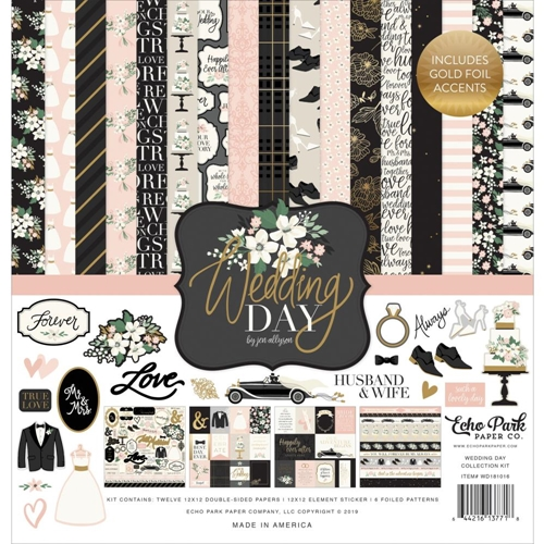 Echo Park WEDDING DAY 12 x 12 Collection Kit wd181016 Preview Image