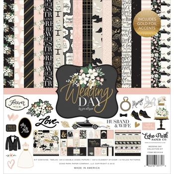 Echo Park WEDDING DAY 12 x 12 Collection Kit wd181016
