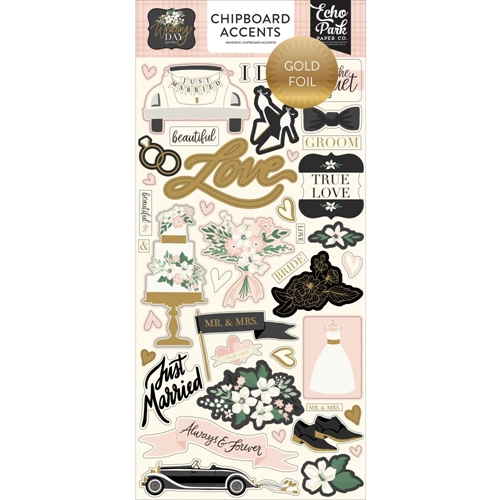 Echo Park WEDDING DAY Chipboard Accents wd181021 Preview Image