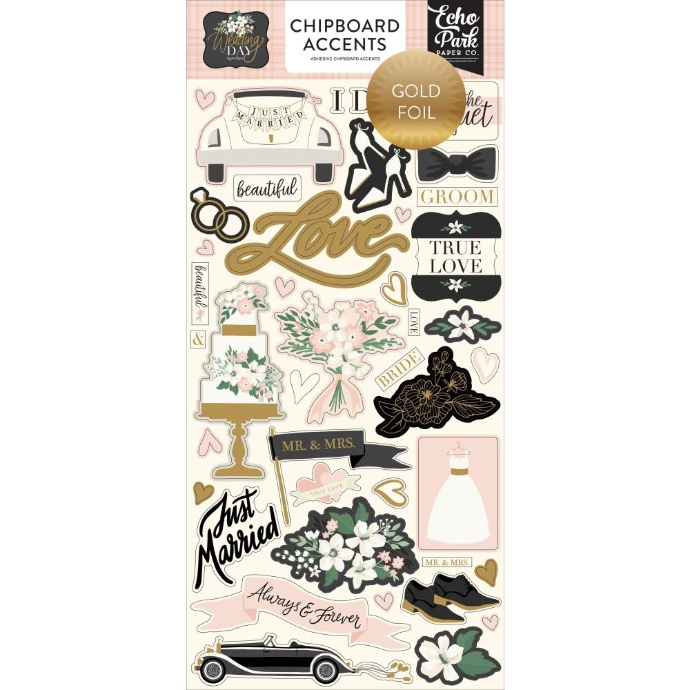 Echo Park WEDDING DAY Chipboard Accents wd181021 zoom image