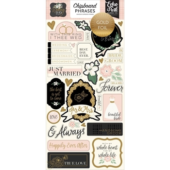 Echo Park WEDDING DAY Chipboard Phrases wd181022