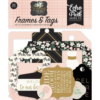 Echo Park WEDDING DAY Frames And Tags Ephemera wd181025