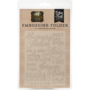 Echo Park ALWAYS AND FOREVER Embossing Folder wd181031