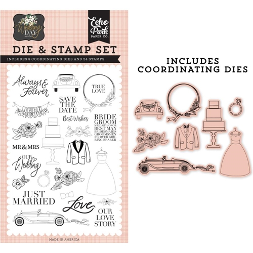 Echo Park OUR LOVE STORY Die And Stamp Set wd181044* Preview Image
