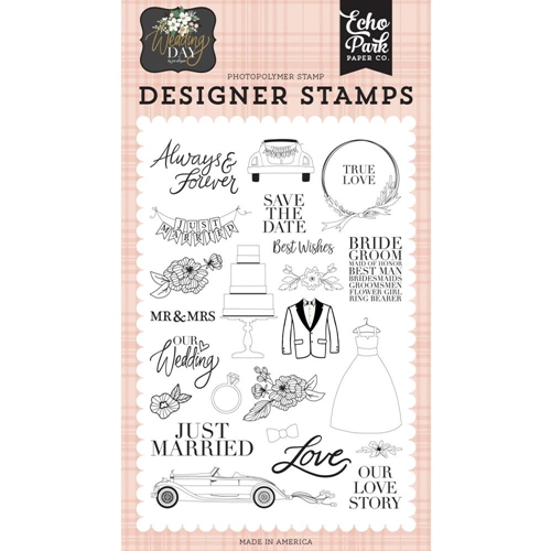 Echo Park OUR LOVE STORY Clear Stamps wd181045 Preview Image
