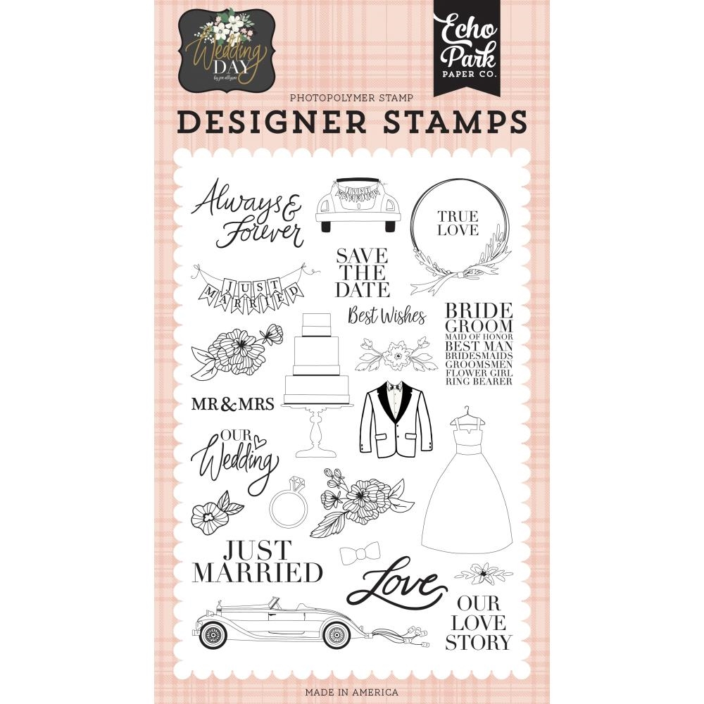 Echo Park OUR LOVE STORY Clear Stamps wd181045 zoom image