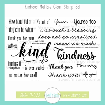 Sweet 'N Sassy KINDNESS MATTERS Clear Stamp Set sns-17-022