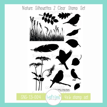 Sweet 'N Sassy NATURE SILHOUETTES 2 Clear Stamp Set sns-13-004
