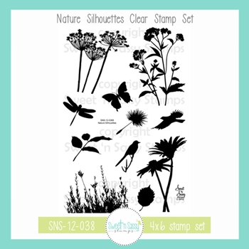 Sweet 'N Sassy NATURE SILHOUETTES Clear Stamp Set sns-12-038