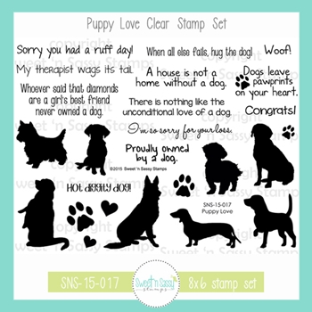 Sweet 'N Sassy PUPPY LOVE Clear Stamp Set sns-15-017