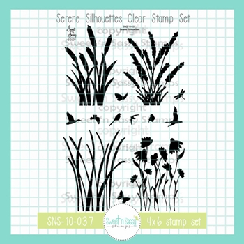 Sweet 'N Sassy SERENE SILHOUETTES Clear Stamp Set sns-10-037