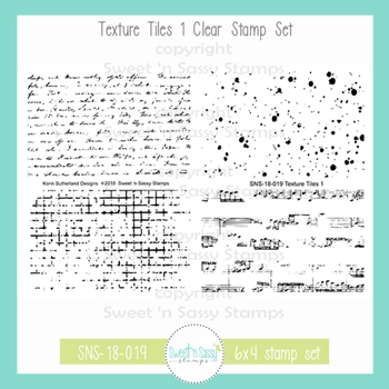 Sweet 'N Sassy TEXTURE TILES 1 Clear Stamp Set sns-18-019