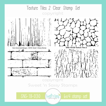 Sweet 'N Sassy TEXTURE TILES 2 Clear Stamp Set sns-18-030