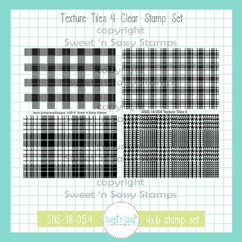 Sweet 'N Sassy TEXTURE TILES 4 Clear Stamp Set sns-18-054