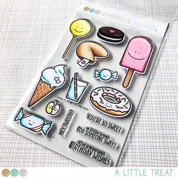 Create A Smile A LITTLE TREAT Clear Stamps clcs106