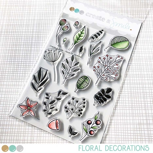 Create A Smile FLORAL DECORATIONS Clear Stamps clcs108 Preview Image