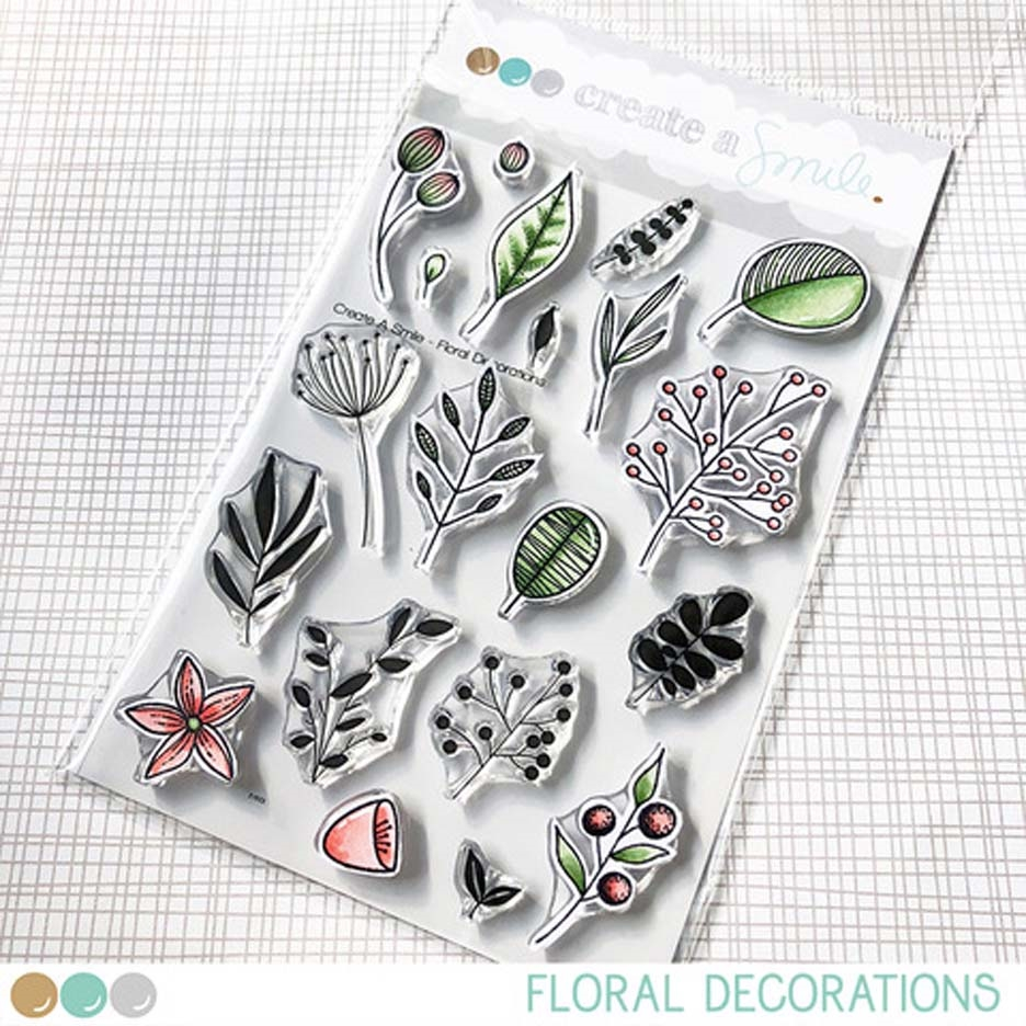 Create A Smile FLORAL DECORATIONS Clear Stamps clcs108 zoom image