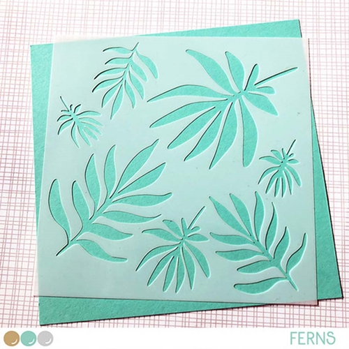 Create A Smile FERNS Stencil scs33 Preview Image