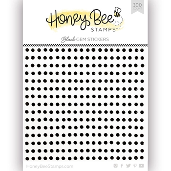 Honey Bee BLACK Gem Stickers hbgs-003