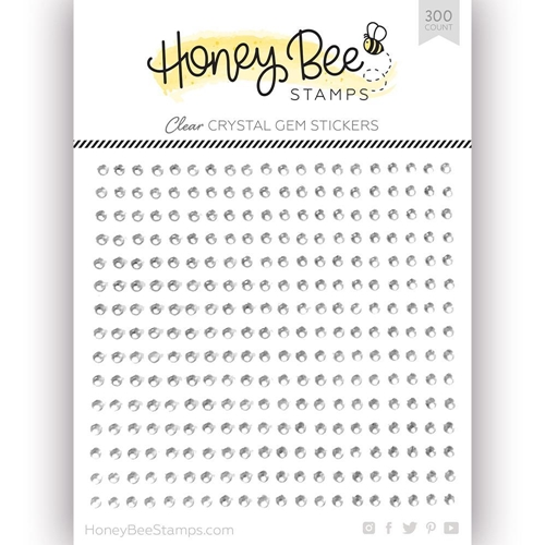 Honey Bee CRYSTAL CLEAR Gem Stickers hbgs-001 Preview Image