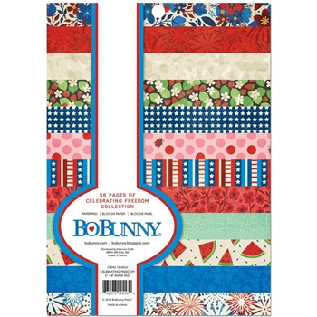 BoBunny 6 x 8 CELEBRATING FREEDOM Paper Pad 7310553