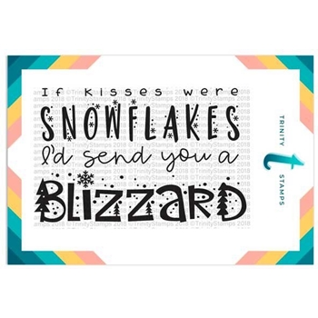 Trinity Stamps SNOWFLAKE KISSES Clear Stamp Set 1549240997