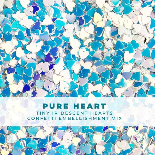 Trinity Stamps PURE HEART TINY CONFETTI Embellishment Bag 1549245025 zoom image