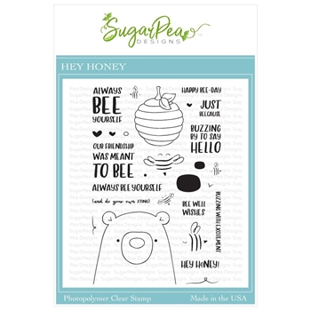 SugarPea Designs HEY HONEY Clear Stamp Set spd-00337