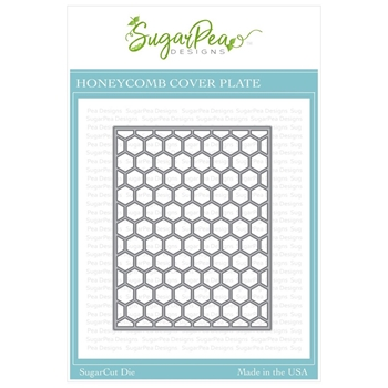 SugarPea Designs HONEYCOMB COVER PLATE SugarCuts Dies spd-00339