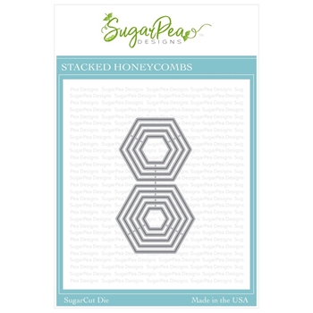 SugarPea Designs STACKED HONEYCOMBS SugarCuts Dies spd-00340