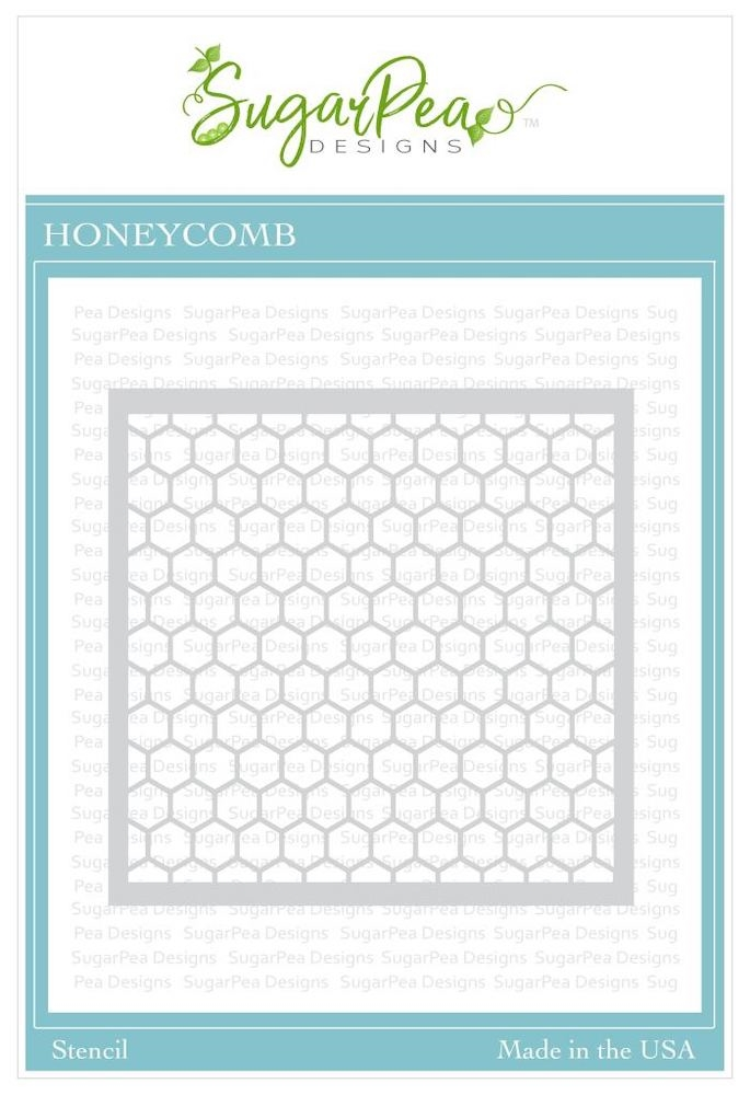 SugarPea Designs HONEYCOMB Stencil spd-00341 zoom image