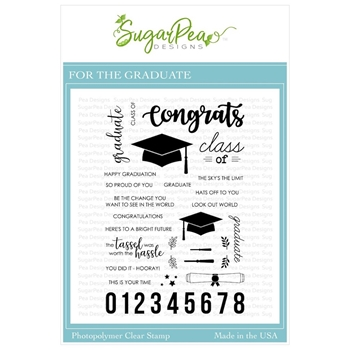 SugarPea Designs FOR THE GRADUATE Clear Stamp Set spd-00349
