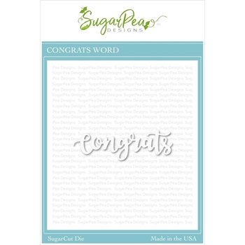 SugarPea Designs CONGRATS WORD SugarCuts Dies spd-00351
