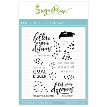 SugarPea Designs FOLLOW YOUR DREAMS Clear Stamp Set spd-00352