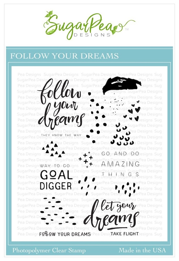 SugarPea Designs FOLLOW YOUR DREAMS Clear Stamp Set spd-00352 zoom image