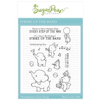 SugarPea Designs STRIKE UP THE BAND Clear Stamp Set spd-00342