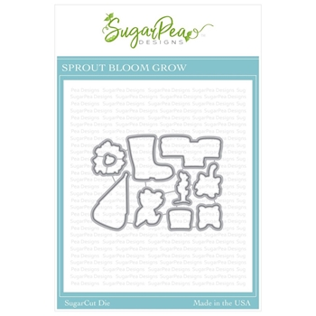 SugarPea Designs SPROUT BLOOM GROW SugarCuts Dies spd-00348
