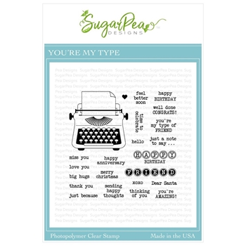 SugarPea Designs YOU'RE MY TYPE Clear Stamp Set spd-00345