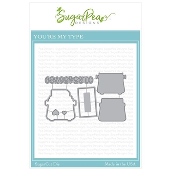 SugarPea Designs YOU'RE MY TYPE SugarCuts Dies spd-00346