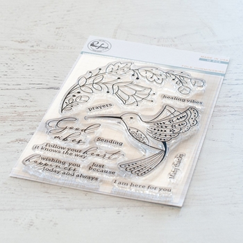 Pinkfresh Studio FOLK HUMMINGBIRD Clear Stamp Set pfcs1619