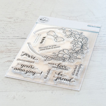 Pinkfresh Studio HANGING FLORALS Clear Stamp Set pfcs1519