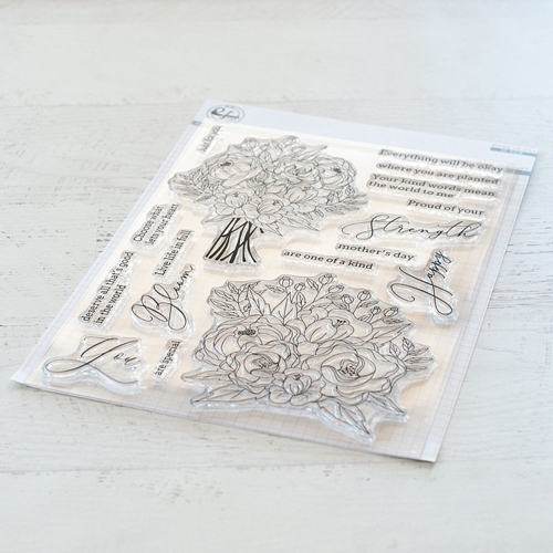 Pinkfresh Studio BLOOMING BOUQUET Clear Stamp Set pfcs1319 Preview Image