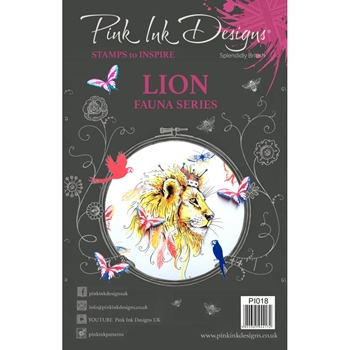 Pink Ink Designs LION A5 Clear Stamps pi018