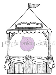 Purple Onion Designs FAIR BOOTH Cling Stamp pod1043