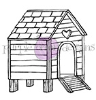 Purple Onion Designs HEN HOUSE Cling Stamp pod1045