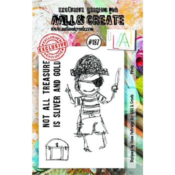 AALL & Create PIRATE Clear Stamp Set aal00187*