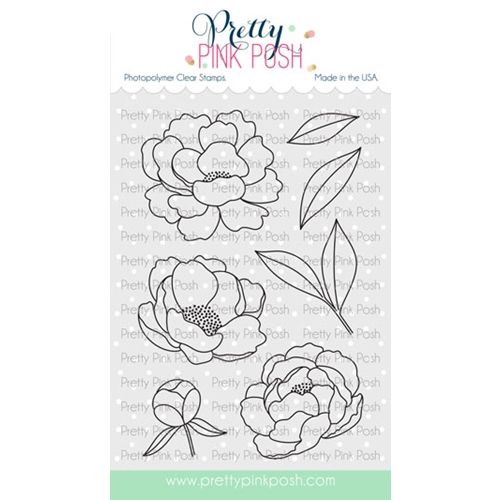 Pretty Pink Posh PEONIES Clear Stamps  Preview Image