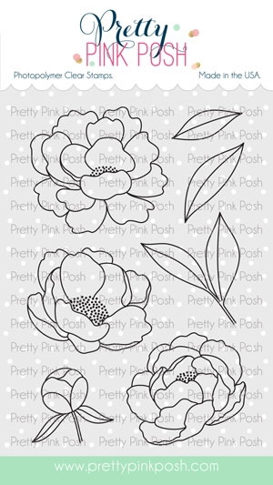 Pretty Pink Posh PEONIES Clear Stamps  zoom image